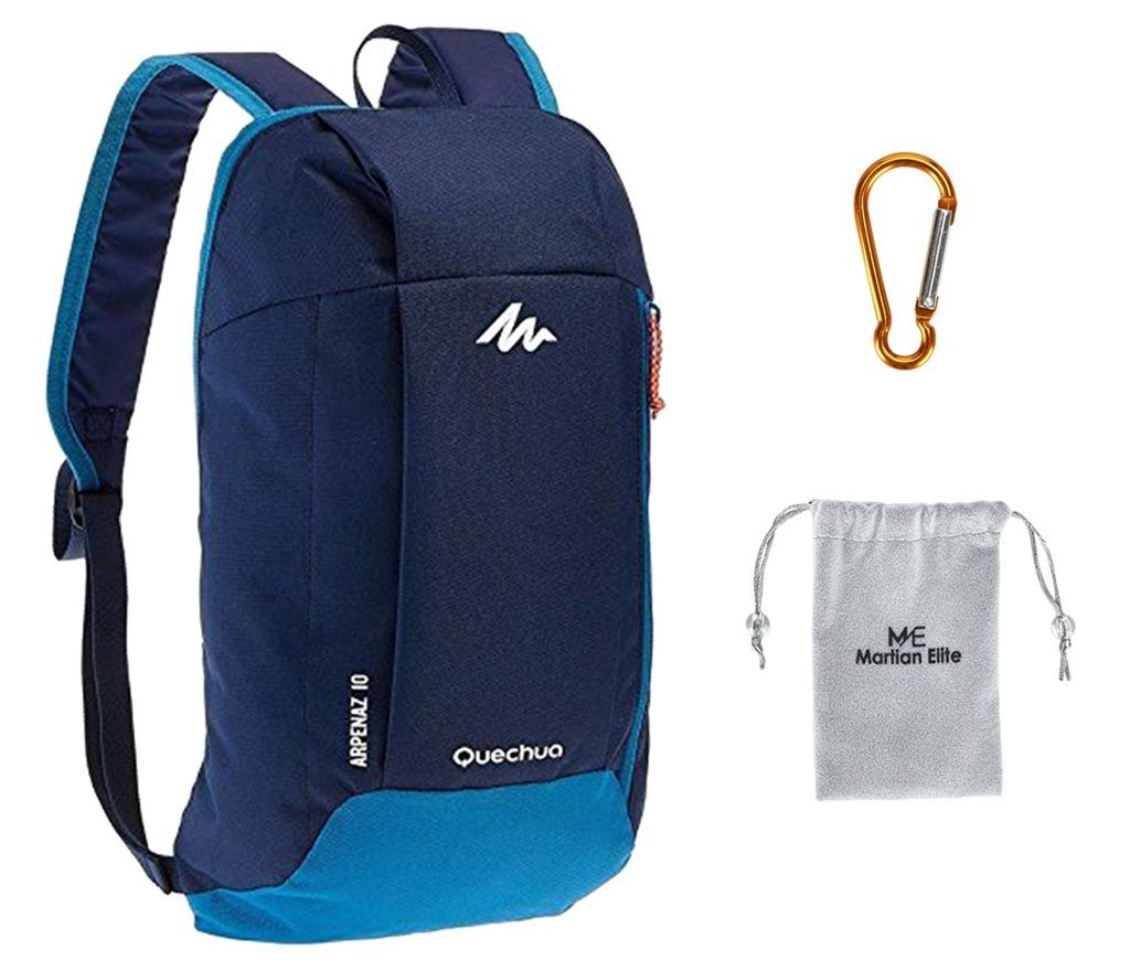 Decathlon QUECHUA Arpenaz Kid Adult Outdoor Backpack, Mini Small Daypack 10L  with Carabiner Clip 418824a7de