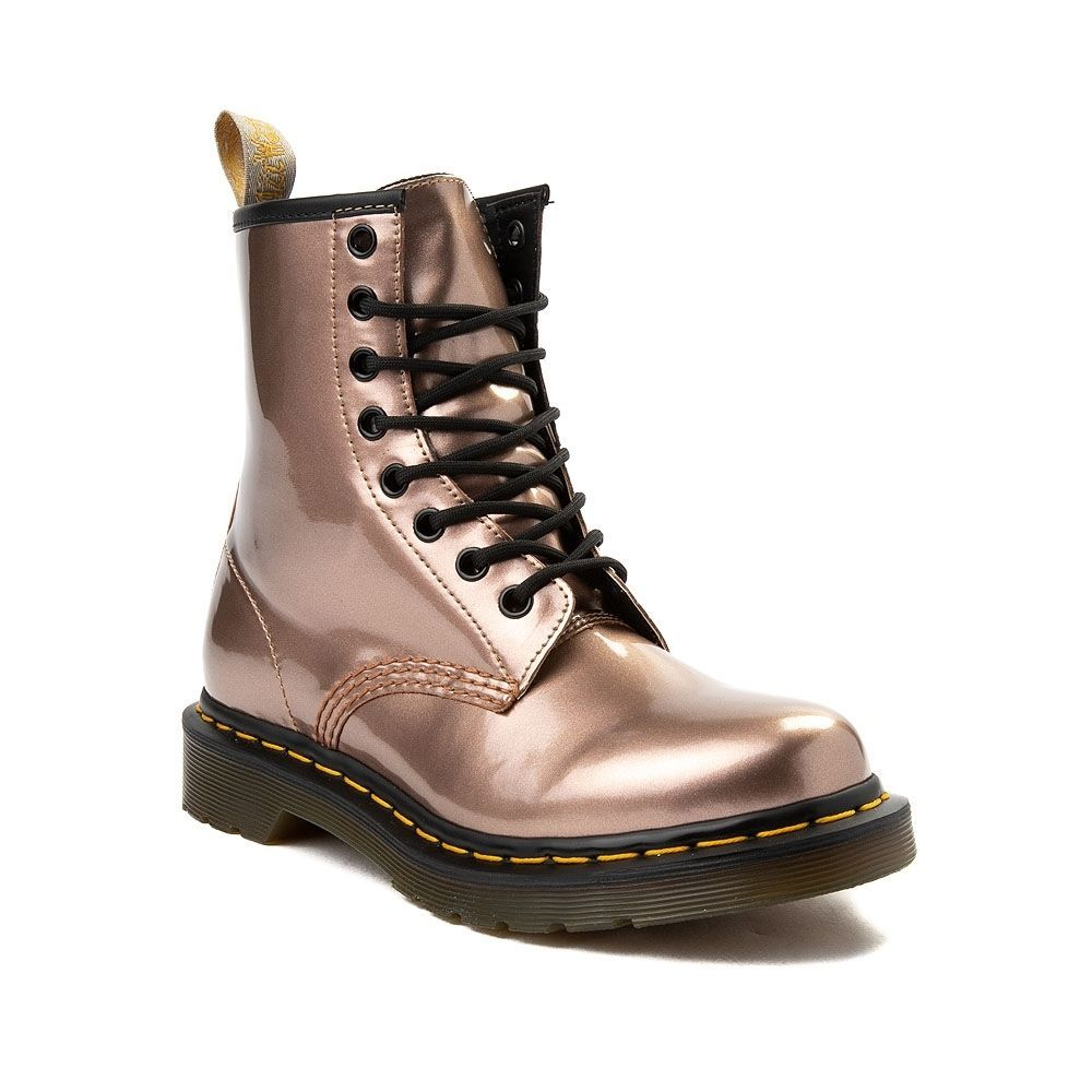 fa5a1bfee128 Womens Dr. Martens Pascal 8-Eye Vegan Metallic Boot - Rose Gold - 569869
