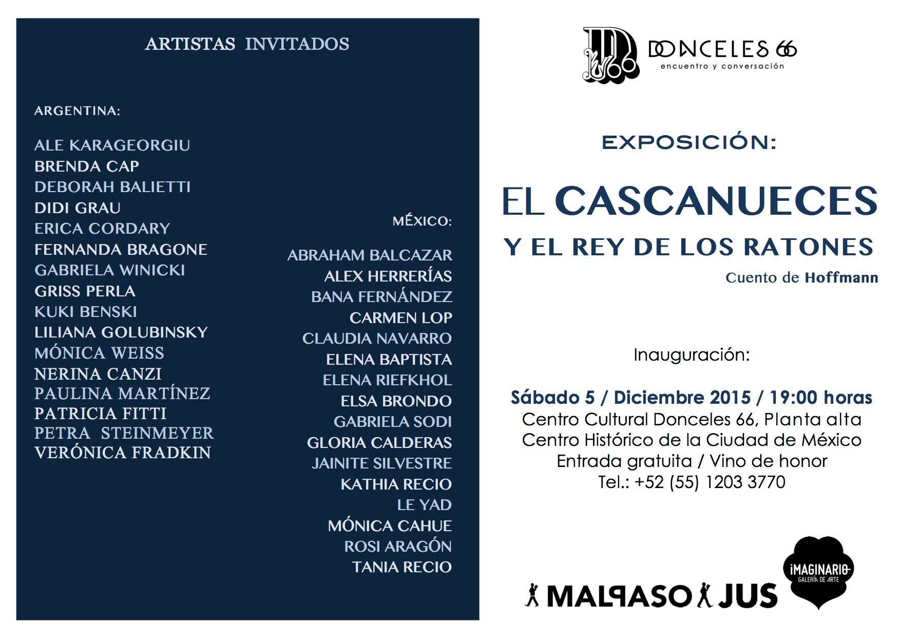 """Proyecto Intercultural  Argentina-México, Exposición de Ilustraciones inspiradas en el Cuento """"El Cascanueces  y el Rey de los Ratones"""" en Distrito Federal, MÉXICO"""