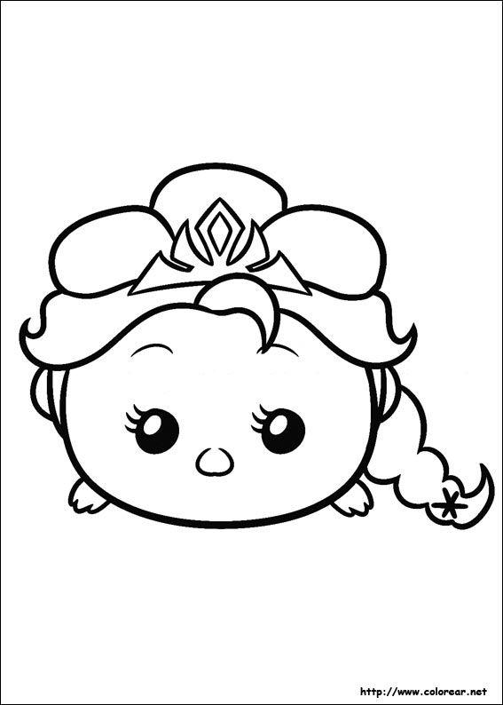 Dibujo De Para Imprimir Tsum Tsum Para Colorear Dibujos