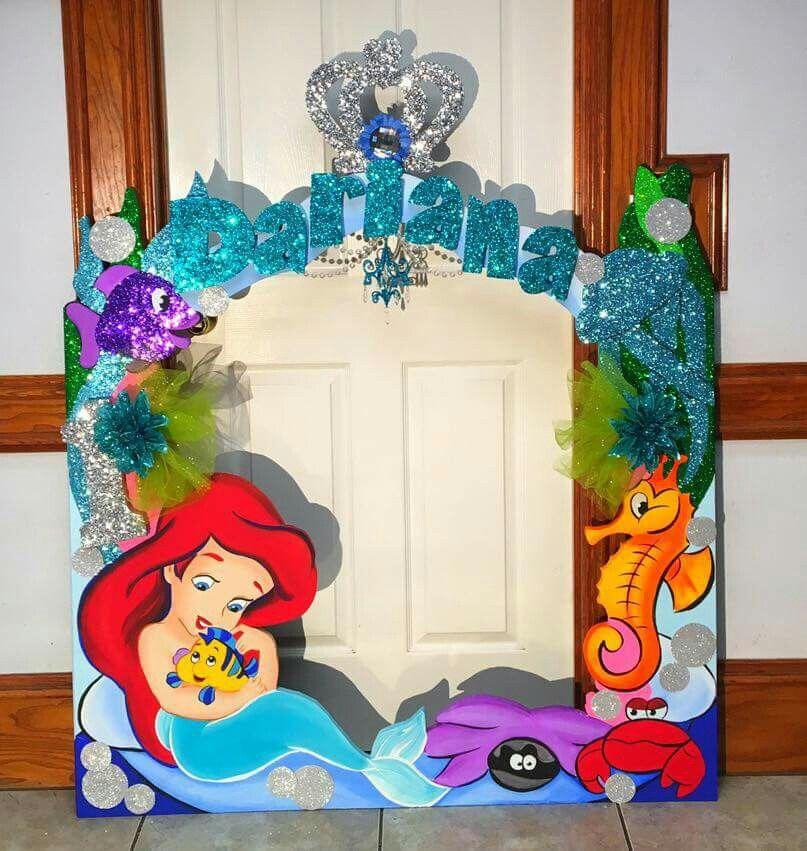 Little mermaid birthday party photo frame! | Disney Baby Princess ...