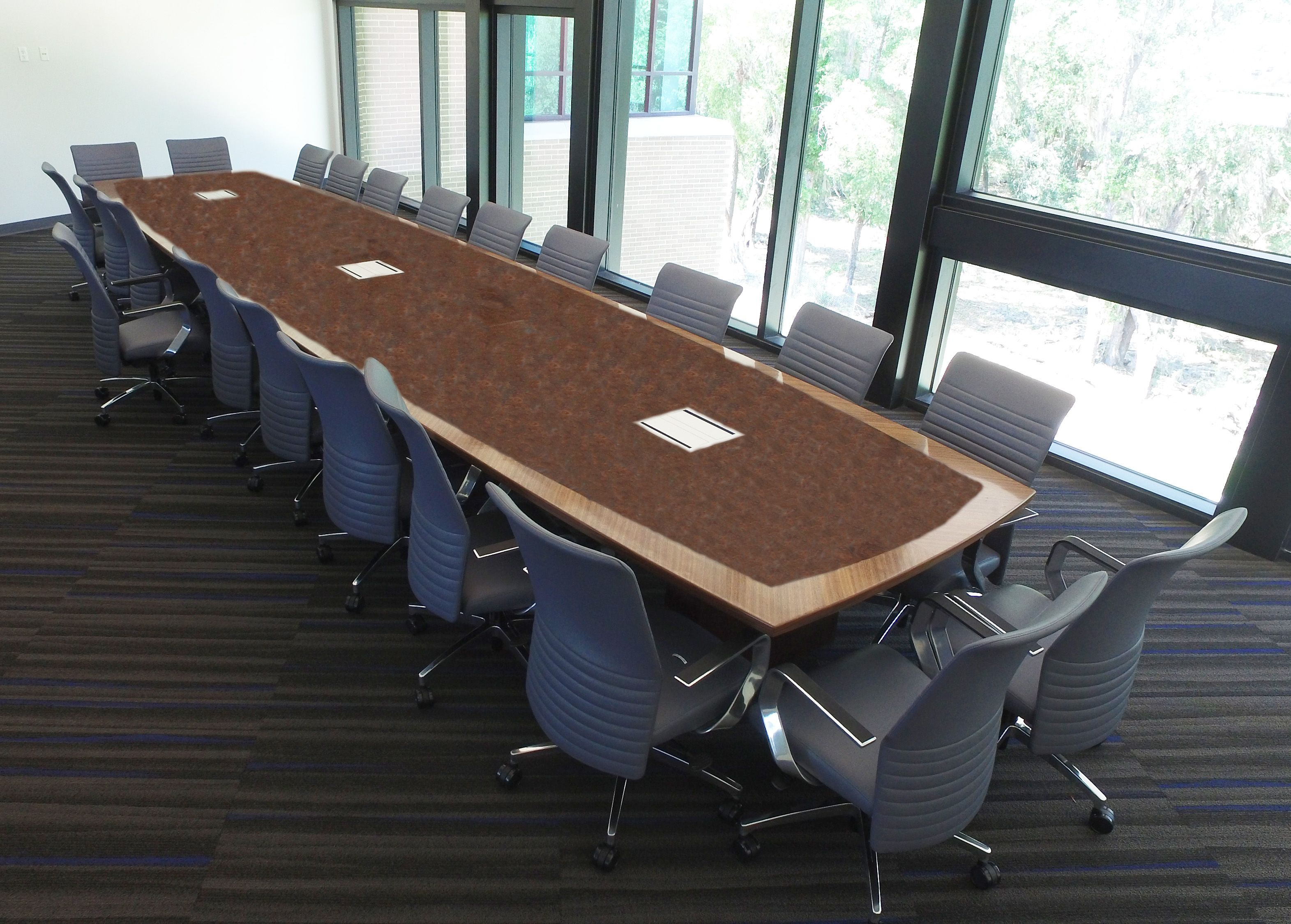 Via Task Chairs With A Tuscan Walnut Kimball Power Enabled