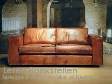 Rode Leren Chesterfield Bank.Leren Bank Hodor 3 Zits Cognac 2 Sitting Room Decor Sofa