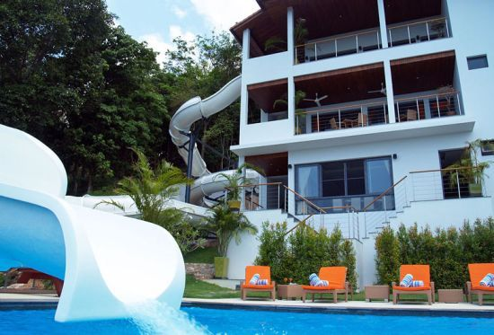 water slide house - Big Houses With Pools With Slides