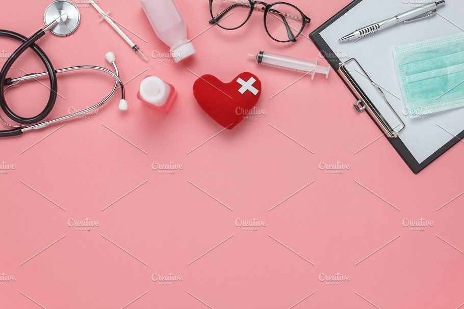 Flat Lay Health Medical Medical Background Nursing Wallpaper Medical Wallpaper