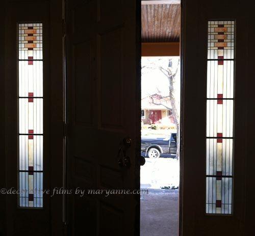 Hanchett Sidelight Privacy Material Window Film Decorative Film Windows