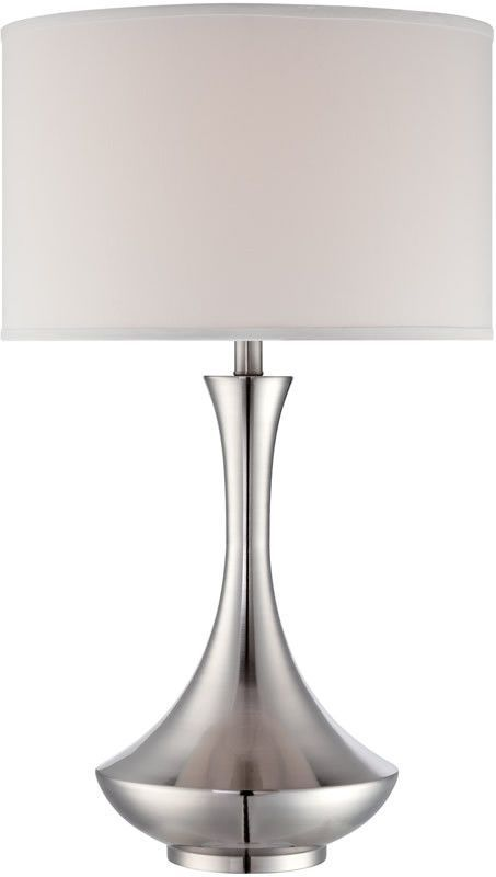 Lite Source Elisio 1 Light Table Lamp Polished Steel Ls22079 Lampsusa Table Lamp Lamp Transitional Table Lamps