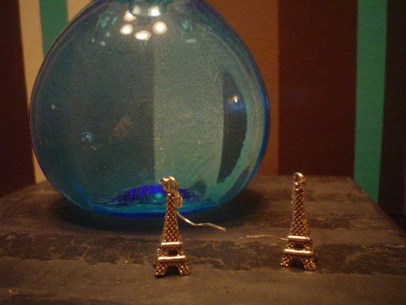 Eiffel Tower Earrings by KaufmansCreations on Etsy, $4.00