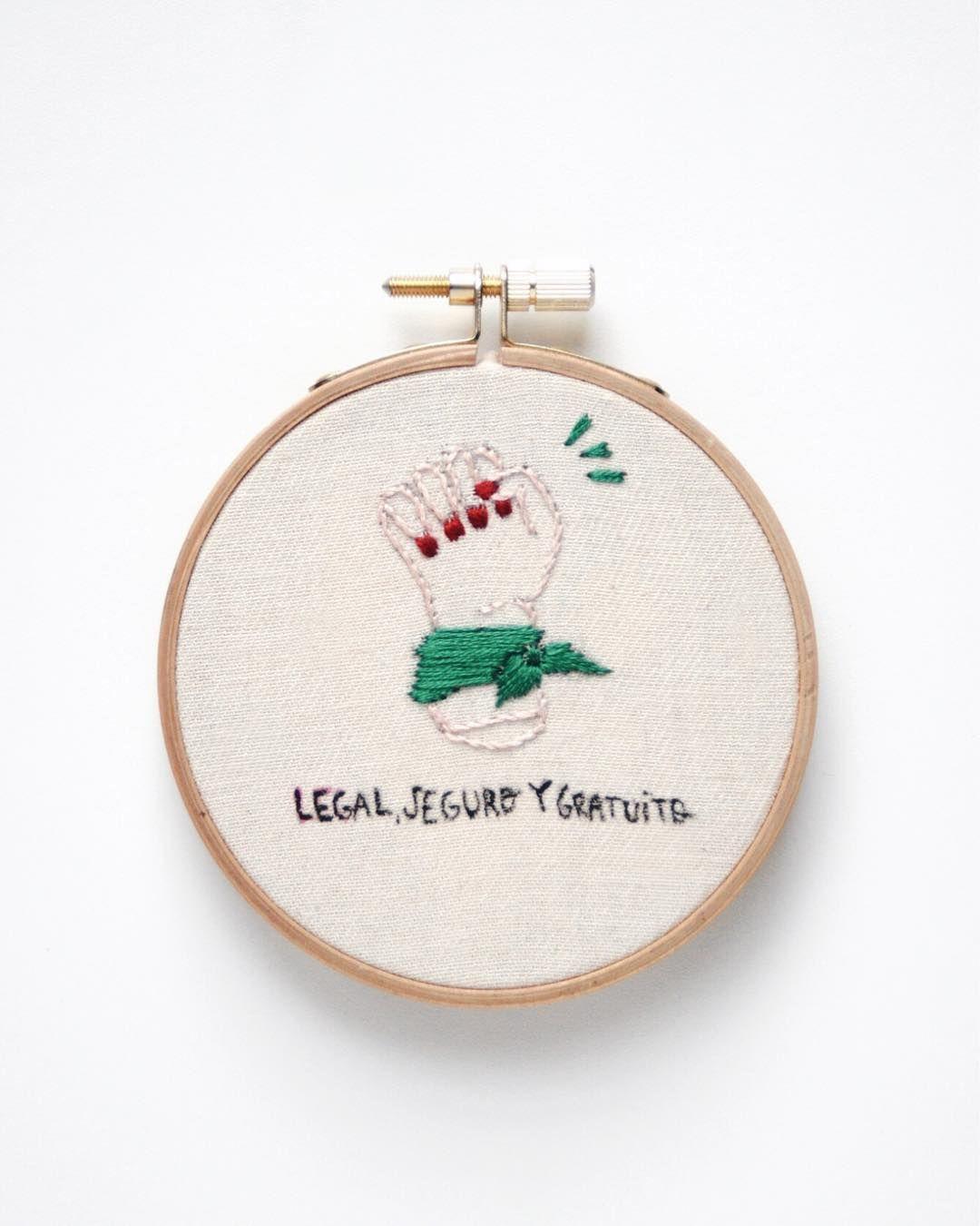 62ed1d5a53b1 Aborto legal seguro y gratuito.  quesealey Bordé está ilustración hecha  por   eugendibuja invito a que vean su cuenta y todo lo hermoso que hace