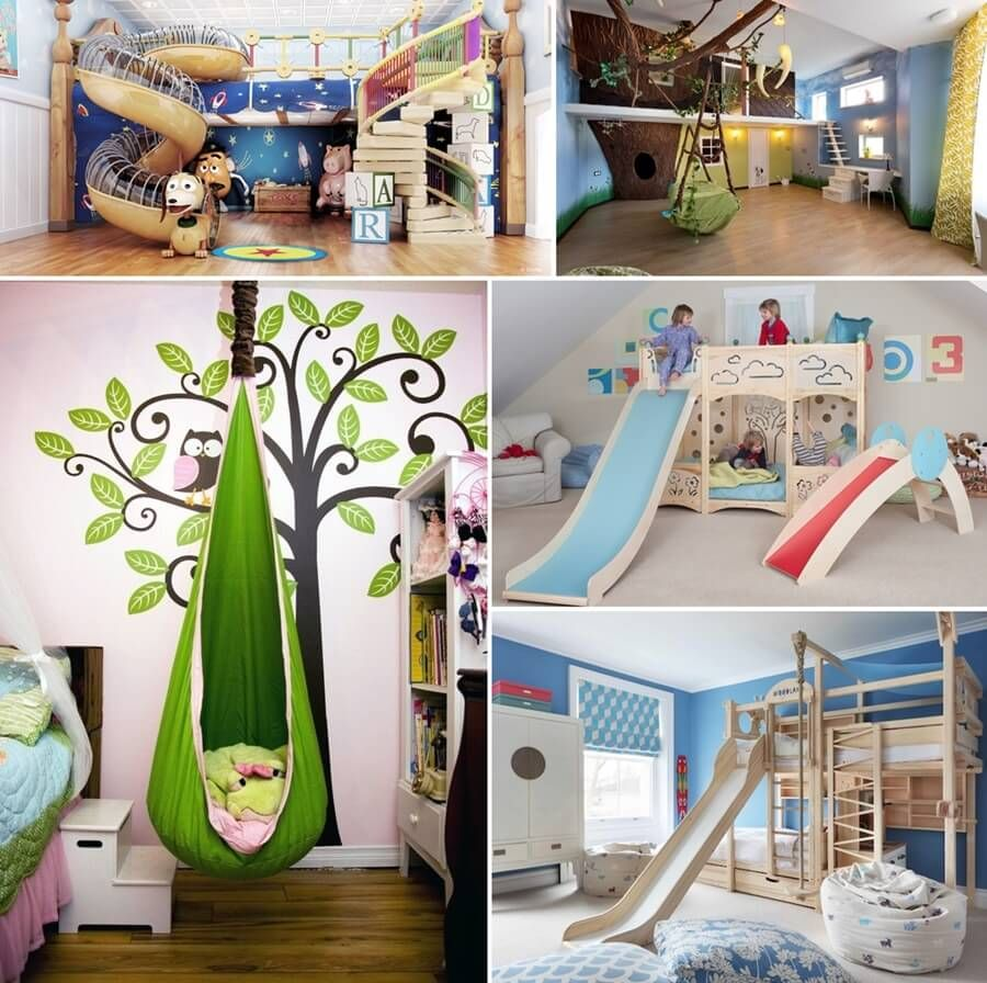 14 Cool Interior Slides and Swings That Your Kids Will