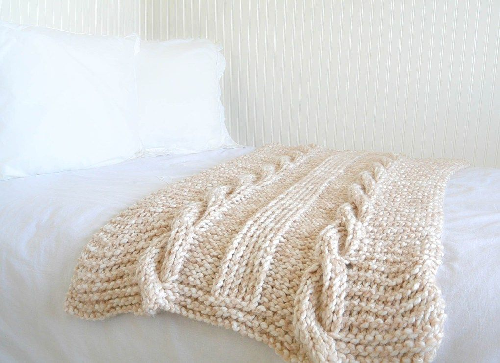 Cable Knit Afghan Pattern Easy | crafts knit afghans, blankets ...