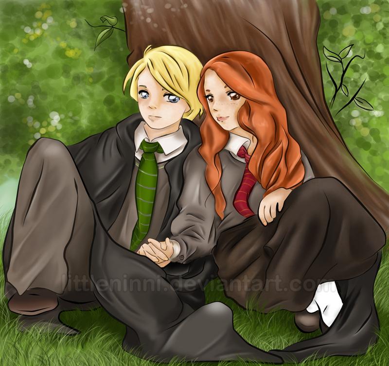 Draco And Ginny Fan Art Love Under The Tree Ginny Weasley Fan Art Harry Potter Anime Harry Potter Tumblr