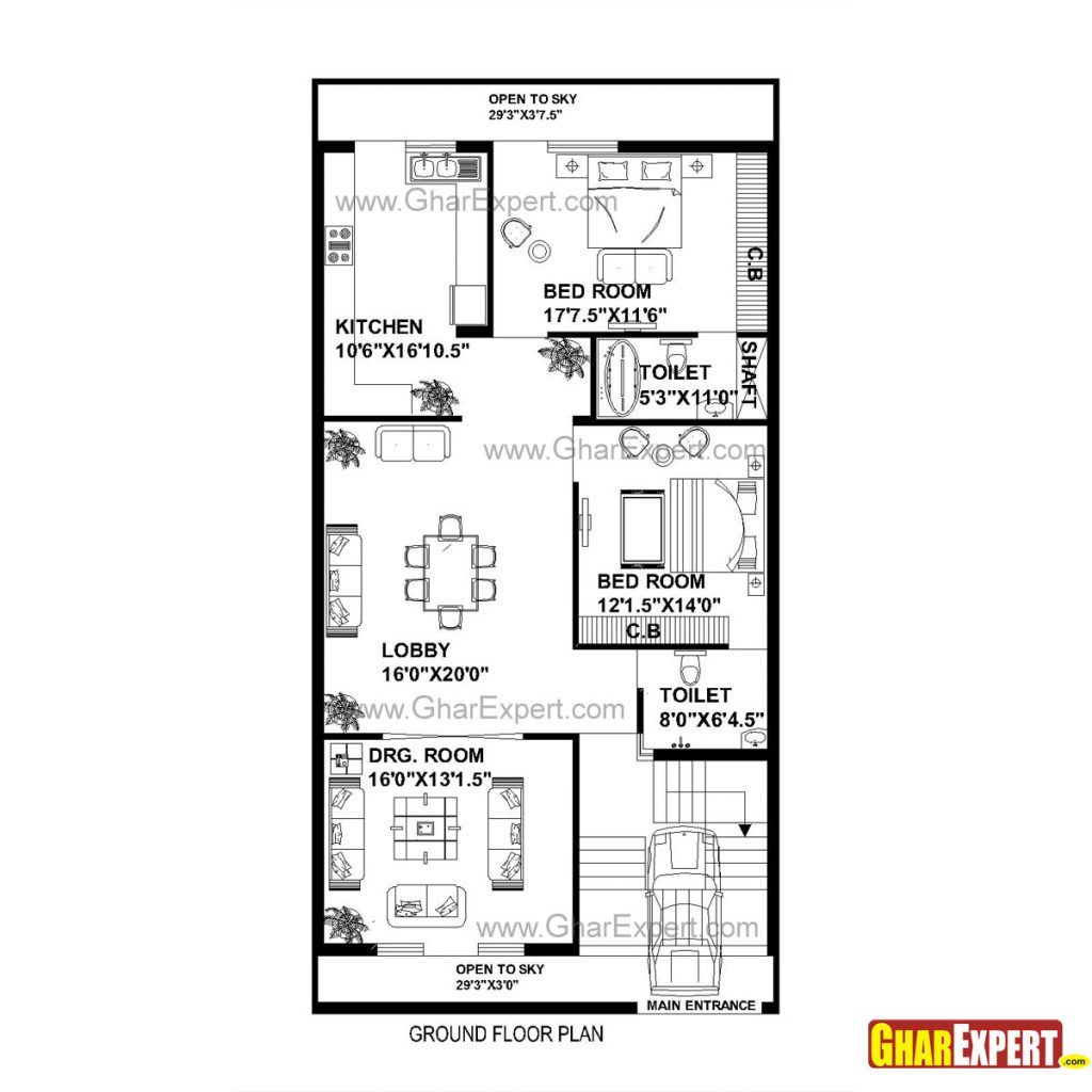 14 30 X 60 Square Feet House Plans 10 Foot Sensational Idea Square House Floor Plans House Map Ranch House Plans
