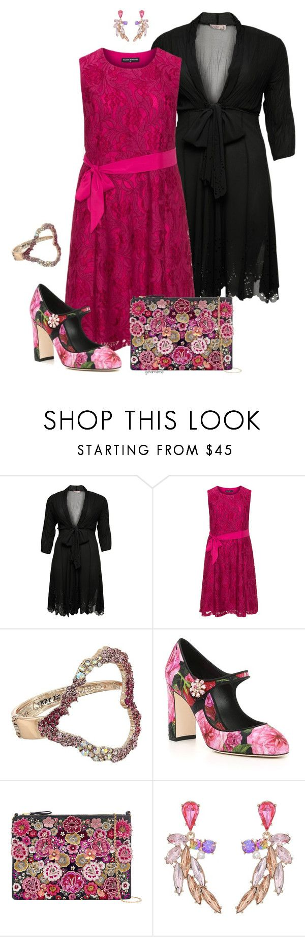 Rosy red- plus size | Betsey johnson, Flower shoes and February