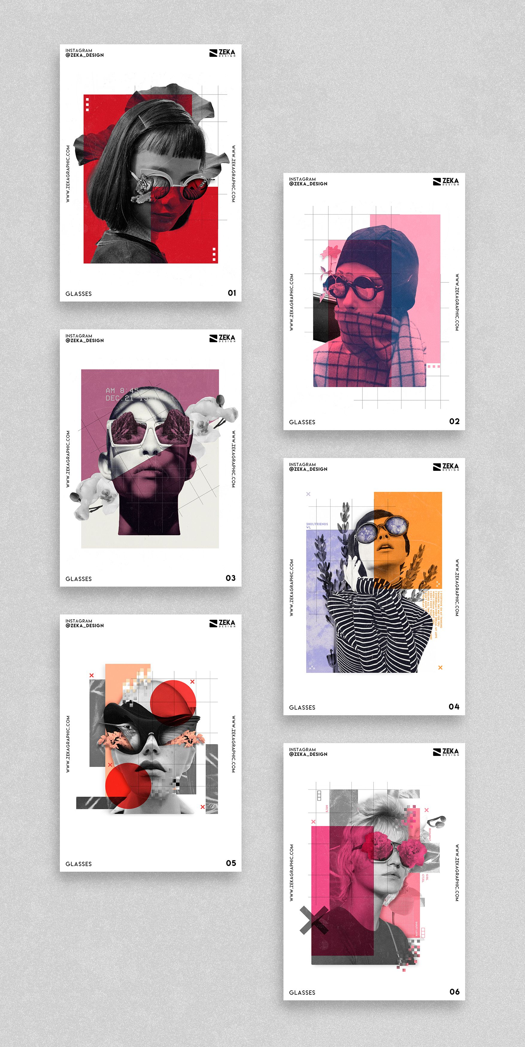 Glasses Poster Design Project Graphic Design Inspiration by Zeka Design