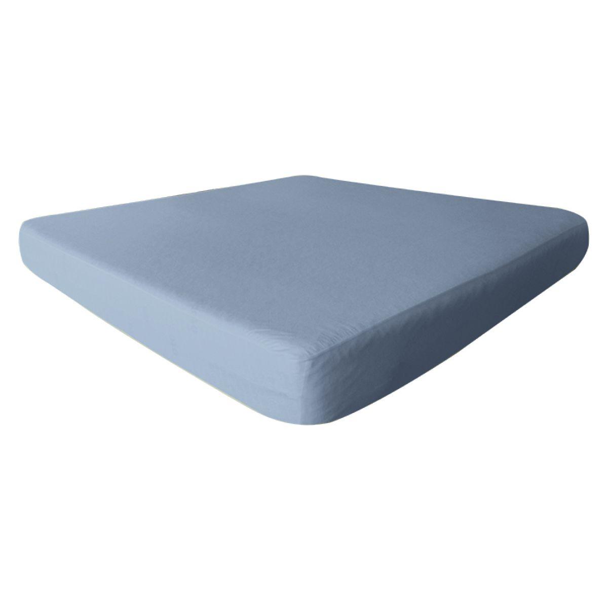 Fresh Drap Housse 160x200cm Bleu Ciel Impermeable Et Respirant Drap Housse Drap Bleu Ciel