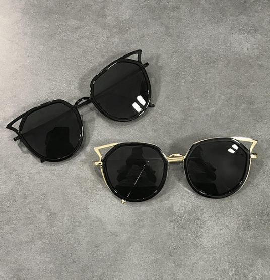 18e379c49acf Sharp metallic corner black shades sunglasses in 2019