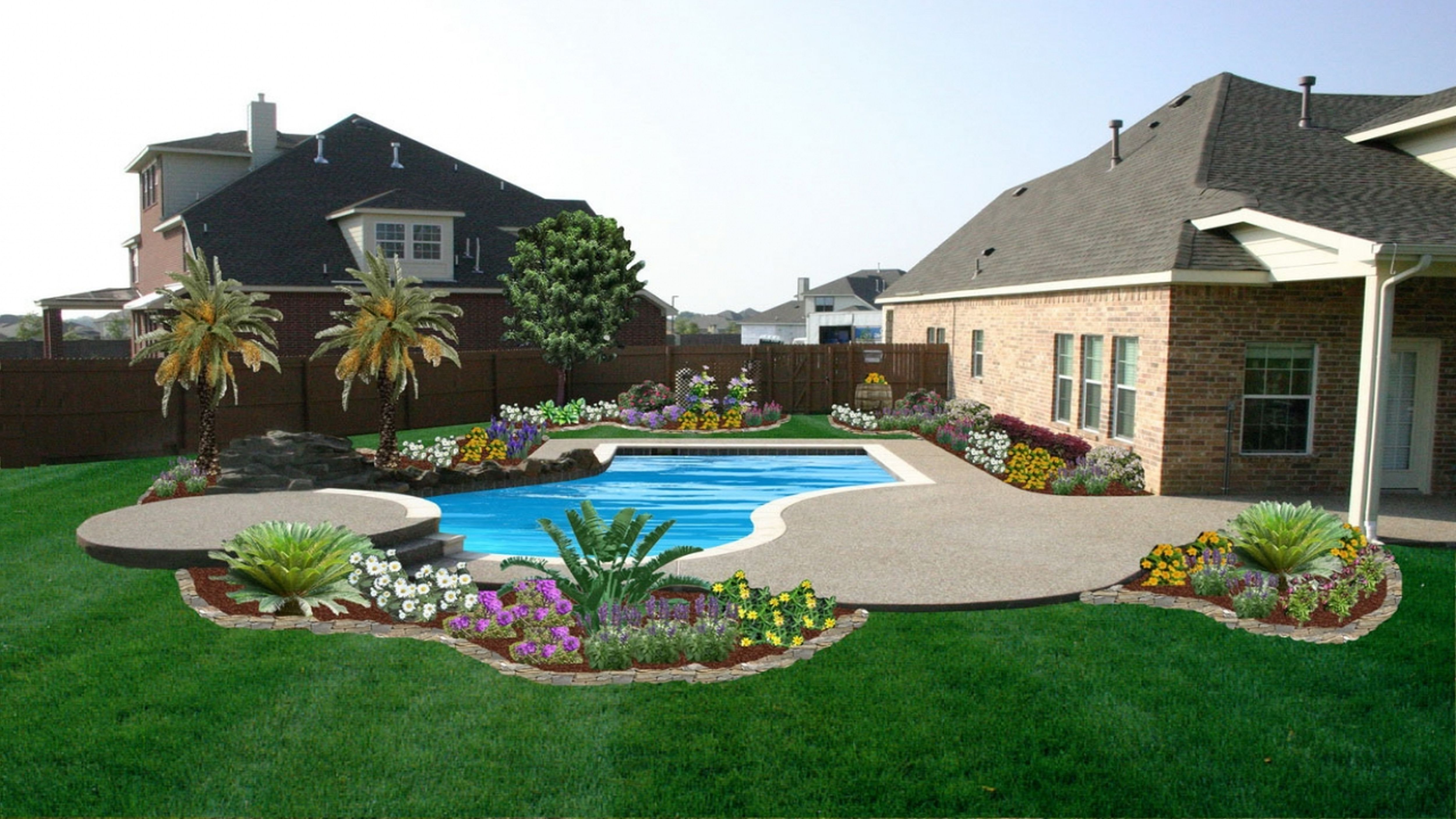 Pool Landscaping Ideas Landscaping Around Pool Pool Landscaping