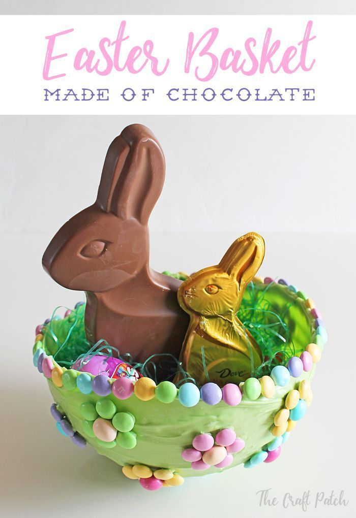 An easter basket made of candy you can eat the whole thing easter negle Image collections