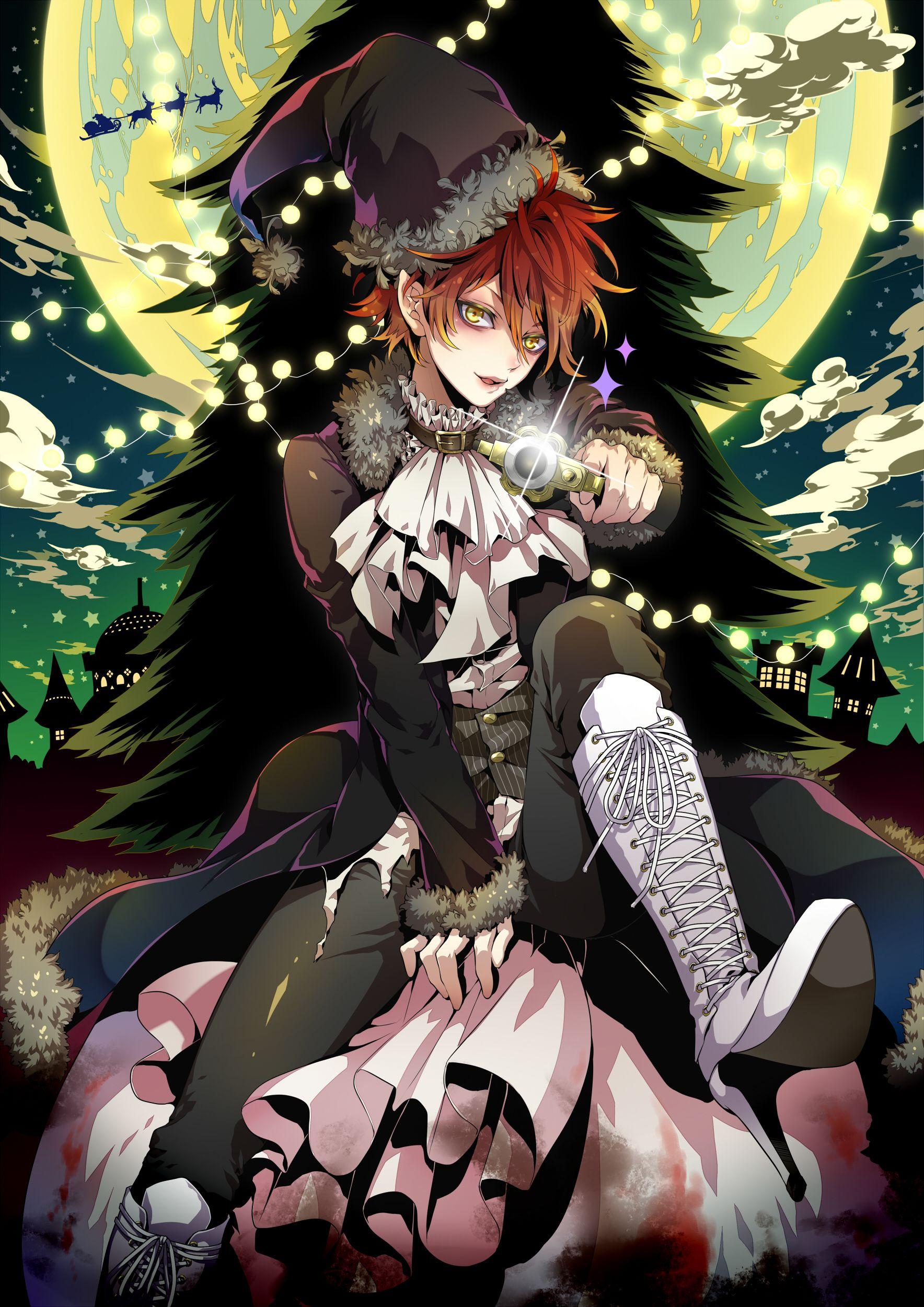 Hakuseki 1970834 Zerochan Anime Chibi Anime Christmas Anime
