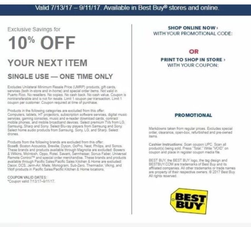 Cool Best Buy 10 Off Coupon Expires 09 11 2017 Exclusions Apply See Description Cool Things To Buy Online Online Shopping Offers
