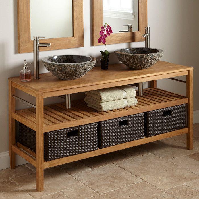 American Style Wooden Bathroom Vanity