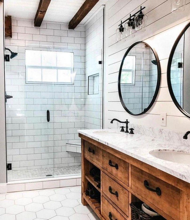 50 Beautiful Bathroom Remodeling Ideas 3 Solnet Sy Com Diy Bathroom Remodel Farmhouse Master Bathroom Modern Farmhouse Bathroom