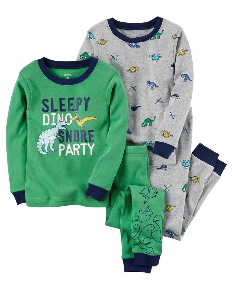 94192a37f Boys 4 pc. Cotton Pajama Sets Carter s Brand Sizes 12 Months   18 ...