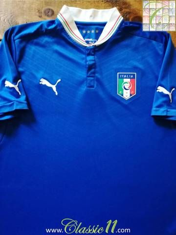 Puma Italy Italia Official EURO 2012 Home Soccer Jersey Brand New Royal Blue