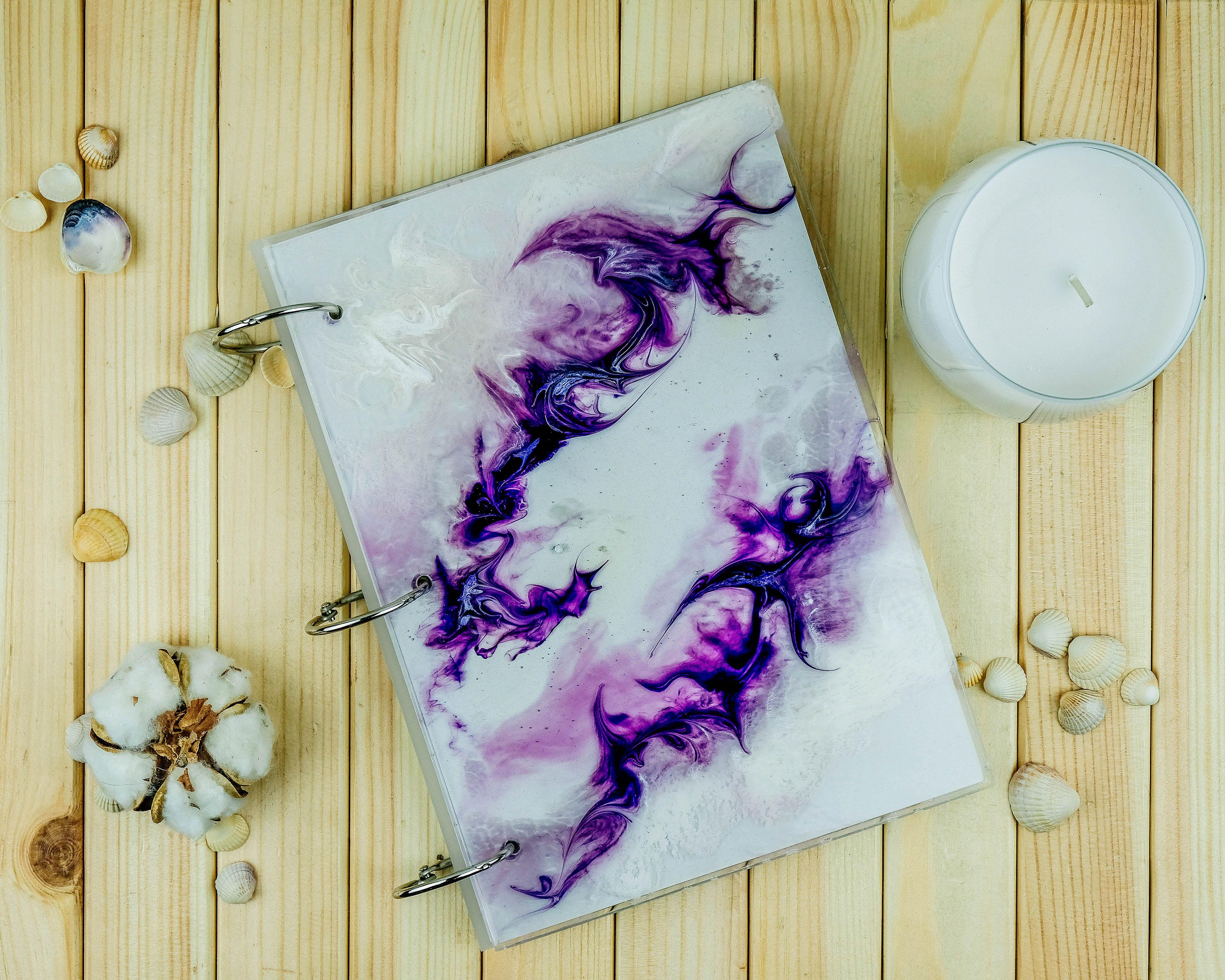 Resin Art Notebook Sketchbook Hand Made Wedding To Order Www Instagram Com Makewaves Art Diy Resin Art Resin Crafts Epoxy Resin Crafts