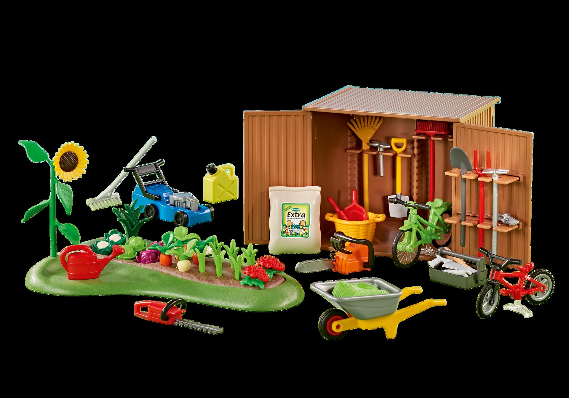 Http Media Playmobil Com I Playmobil 6558 Product Detail Playmobil Gartenschuppen Playmobil Deutschland