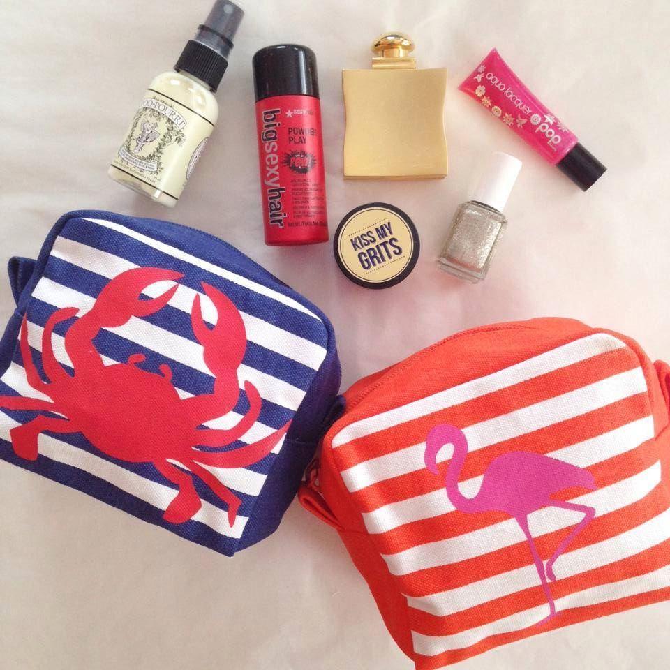 Nautical Makeup Bags