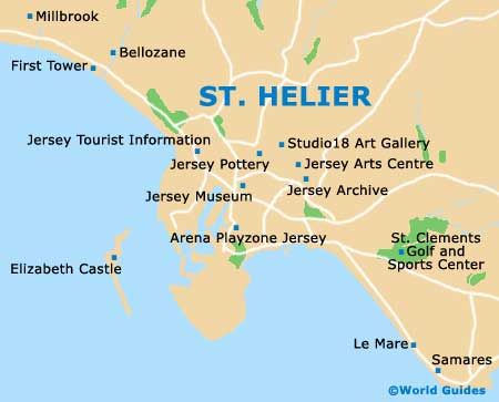 St Helier Map St. Helier map | Maps | Channel islands, Map, Island