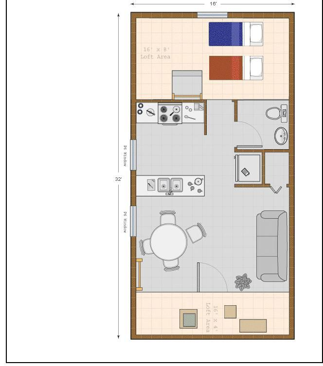 Cheyene Floor Plan Loft Area Alternative Housing