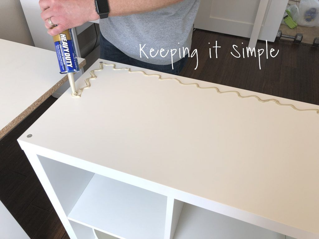 Ikea Hack- DIY Computer Desk with Kallax Shelves •