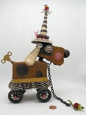 enchanting wheely dog