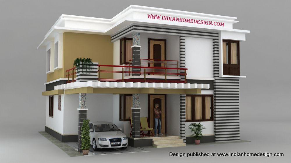 9 9 south indian house models photo house design for Home front design model