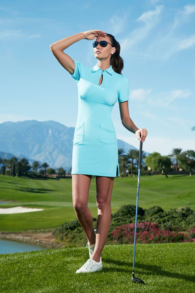 LylaRenai_LR2-Golf-Dress-DR10LR2-6-Turquoise | golf fashion | Pinterest | Golf Golf fashion and ...