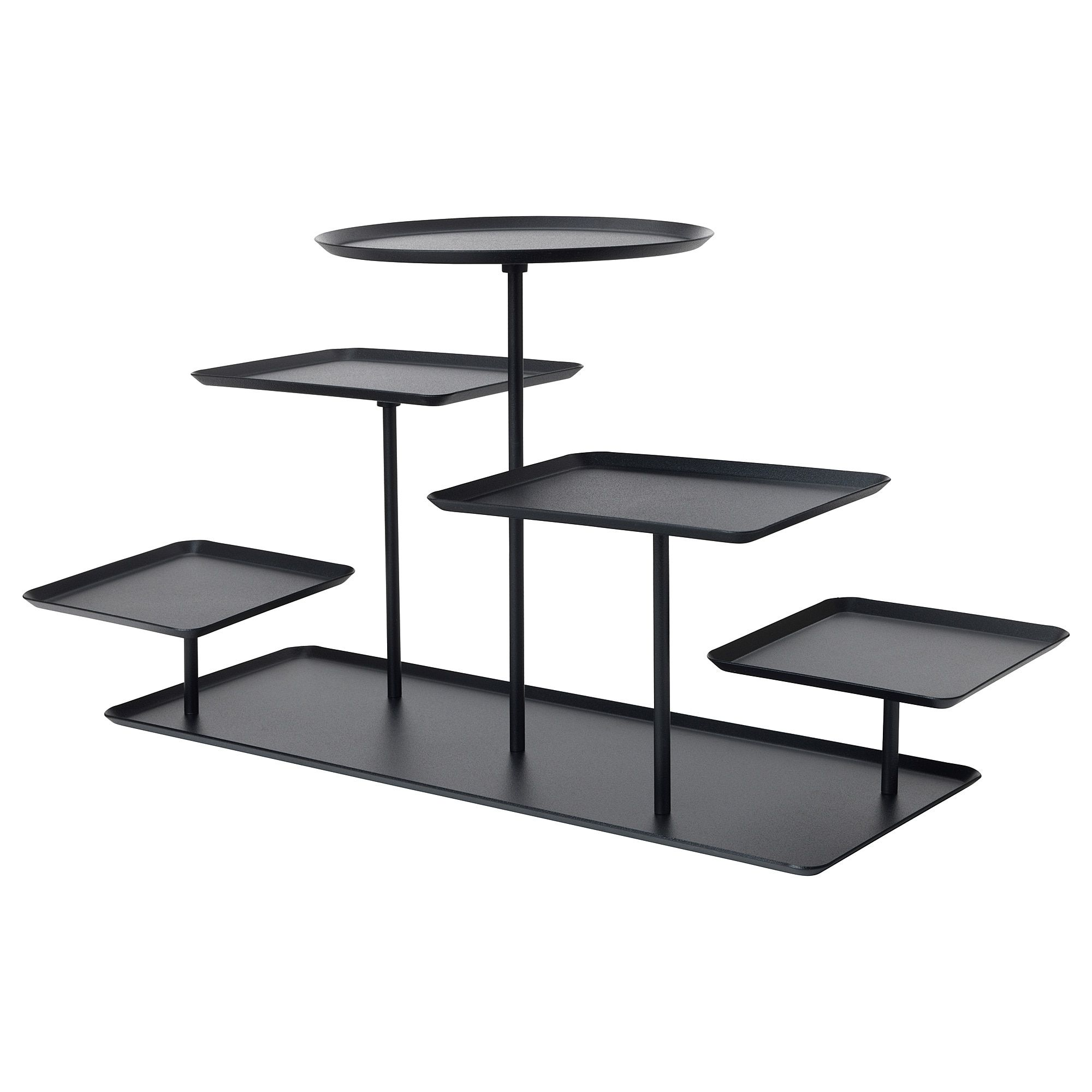 Ikea Sammanhang Black Display Stand Furniture Decor In