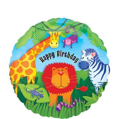 Jungle Animals Happy Birthday Balloon