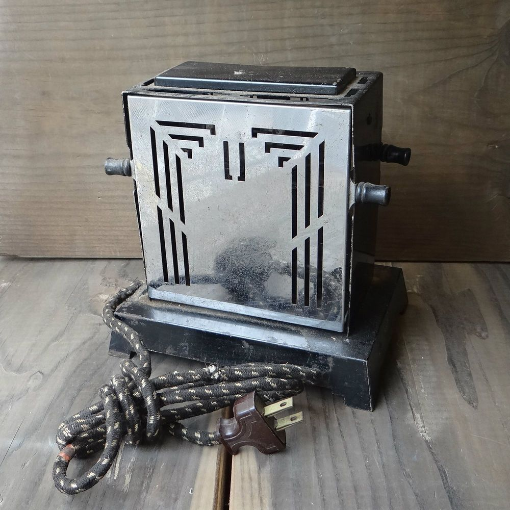 Electric Toasters From 1930 ~ Vintage art deco toaster s chrome black