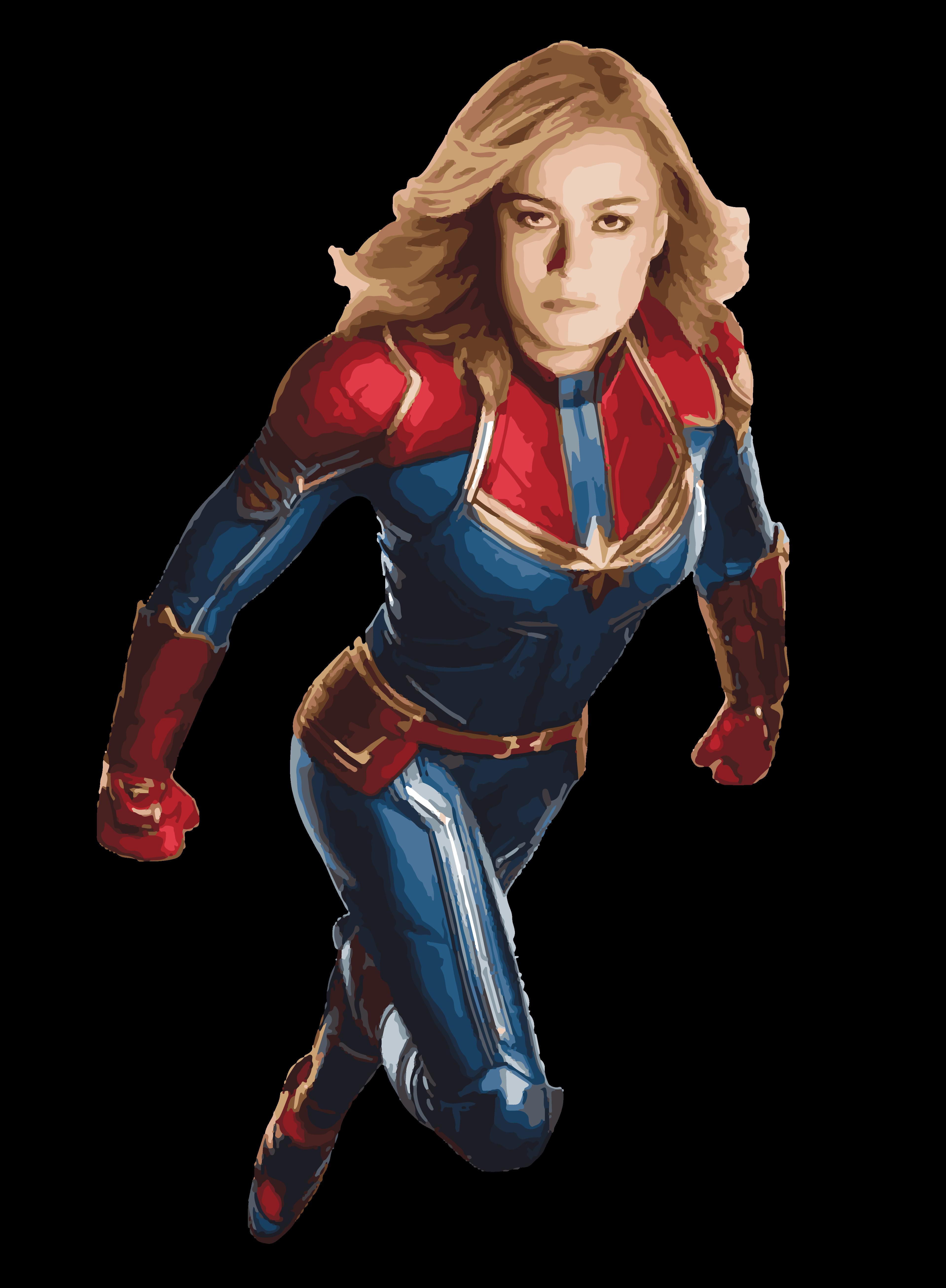 Captain Marvel Vector Art 8 Captain Marvel Carol Danvers Captain Marvel Marvel