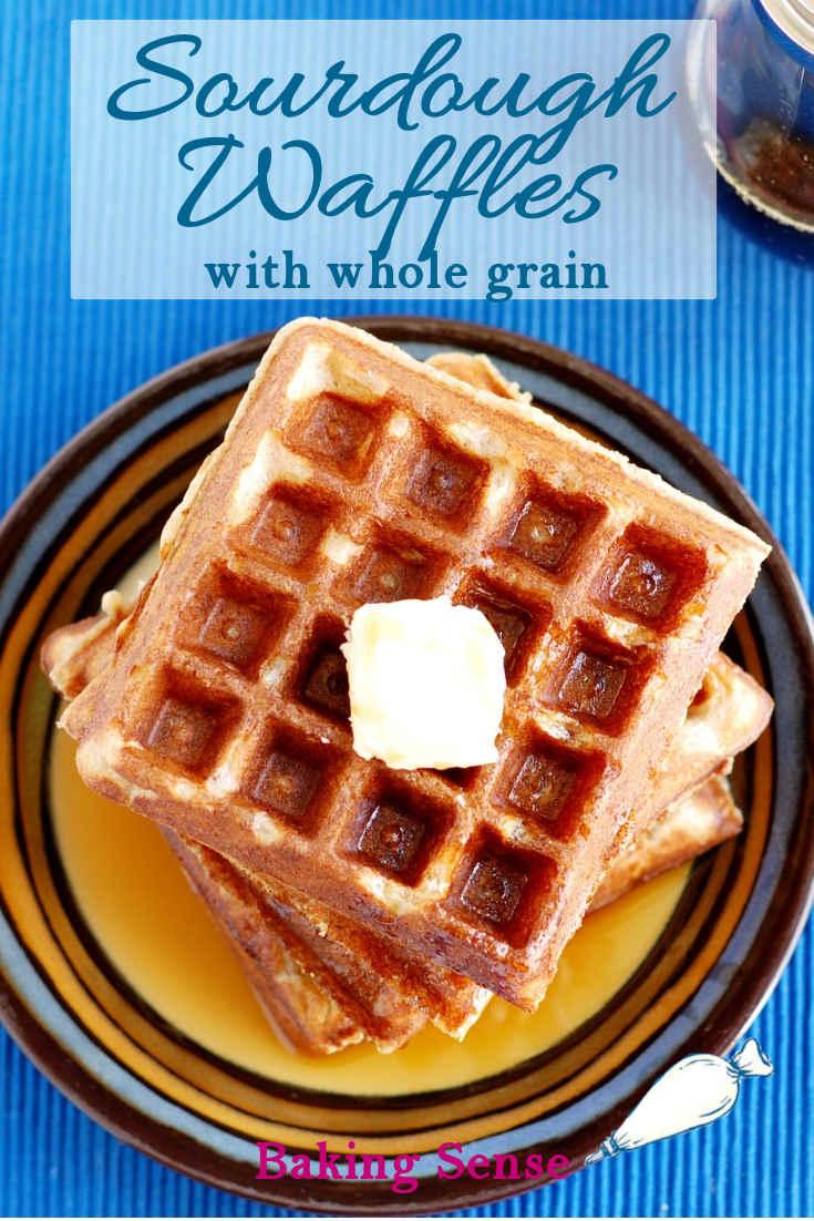 Sourdough Waffles With Whole Grain Recipe In 2020 Sourdough Starter Discard Recipe Buttermilk Recipes Whole Wheat Sourdough