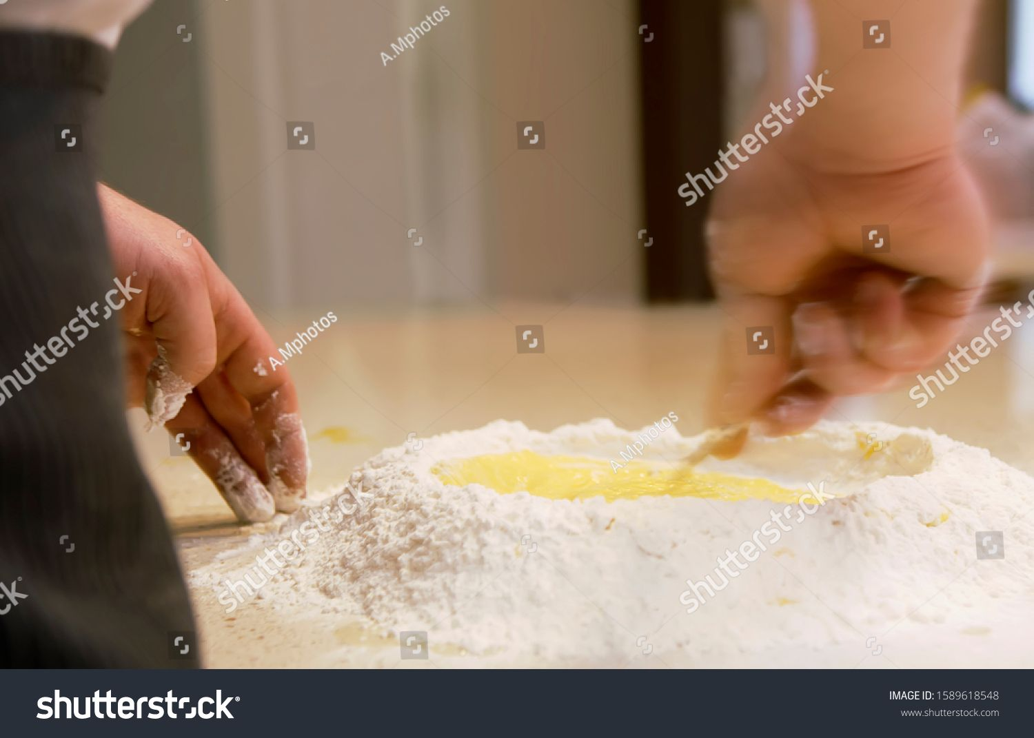 Chef preparing dough in the kitchen and light background, Fresh food concept, Delicious food, passion, Food and drink. #Sponsored , #spon, #kitchen#light#background#Chef