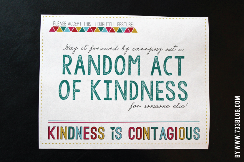 Random Acts Of Kindness Free Printable Template Card Card Template Random Acts Of Kindness Inspirational Printables