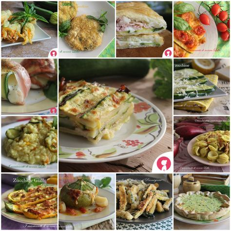 Ricette con le zucchine ricette food pasta e pasta for Ricette per tutti i giorni della settimana