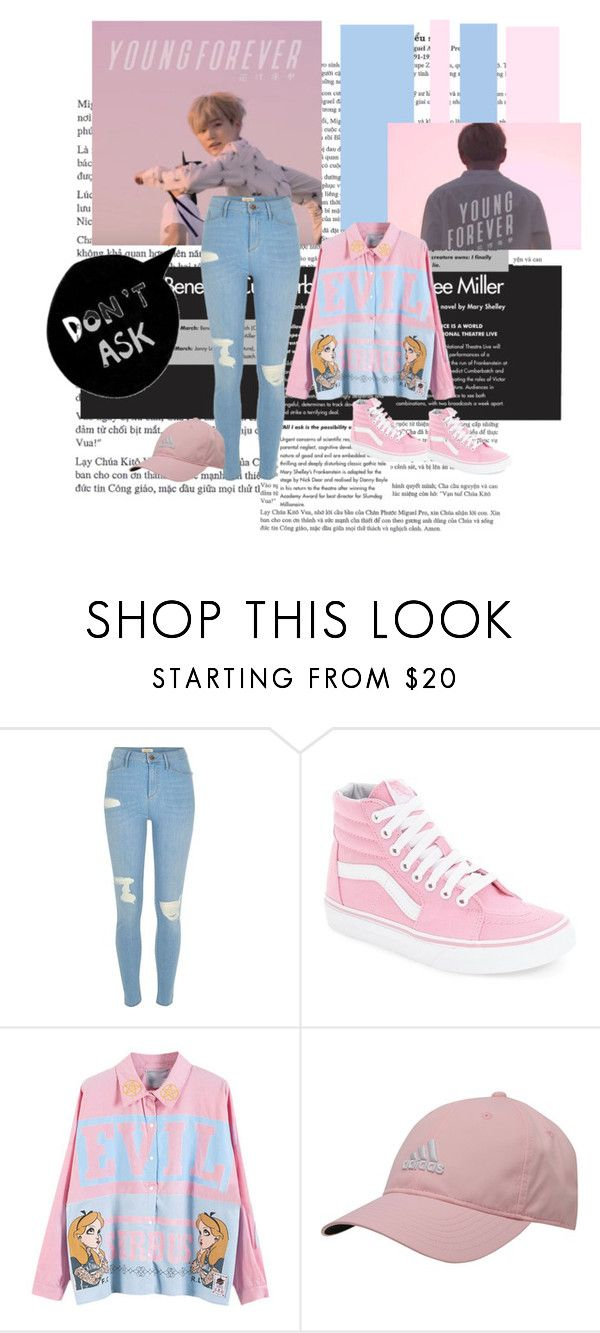 """♦Young Forever is my moto♦"" by enjoyyourlifee ❤ liked on Polyvore featuring River Island, Vans and adidas"