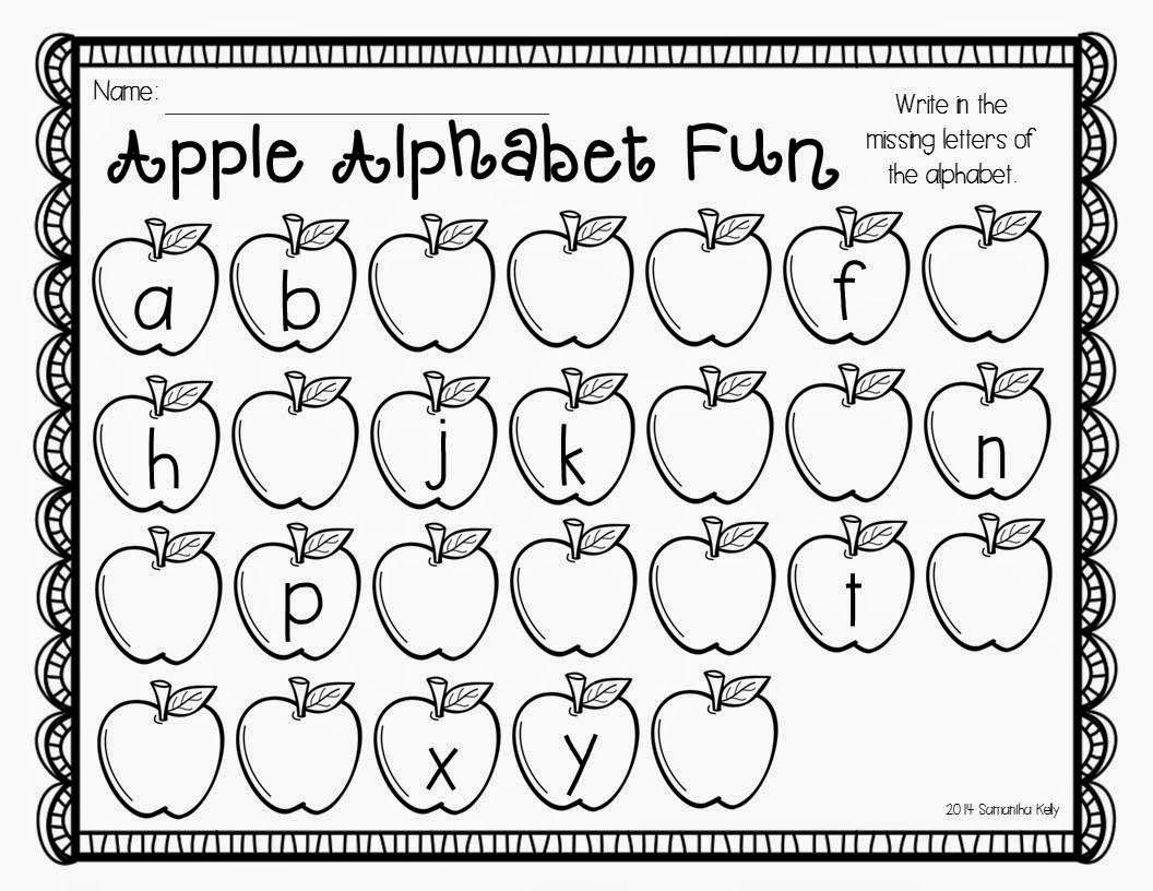 Apple Alphabet Freebie