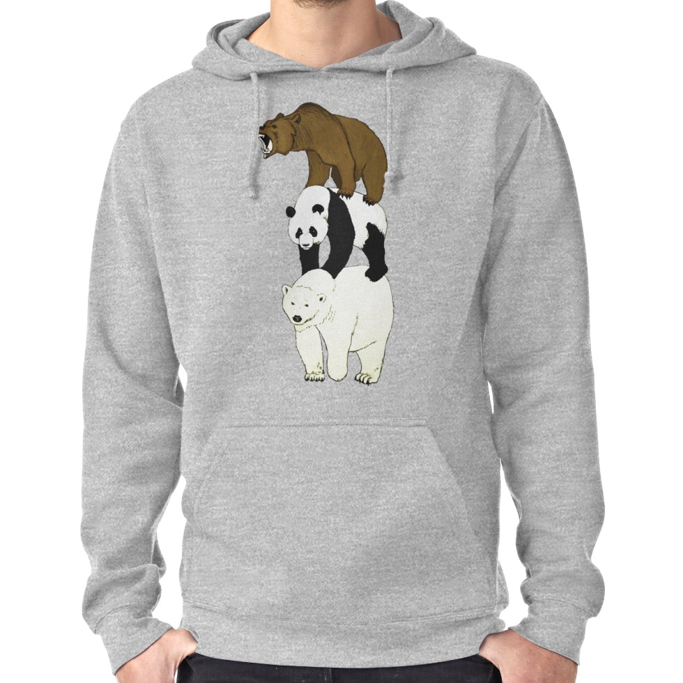 We Bare Bears Stack Grizzly Panda Ice Bear Pullover Sweatshirt Hoodie Sweater