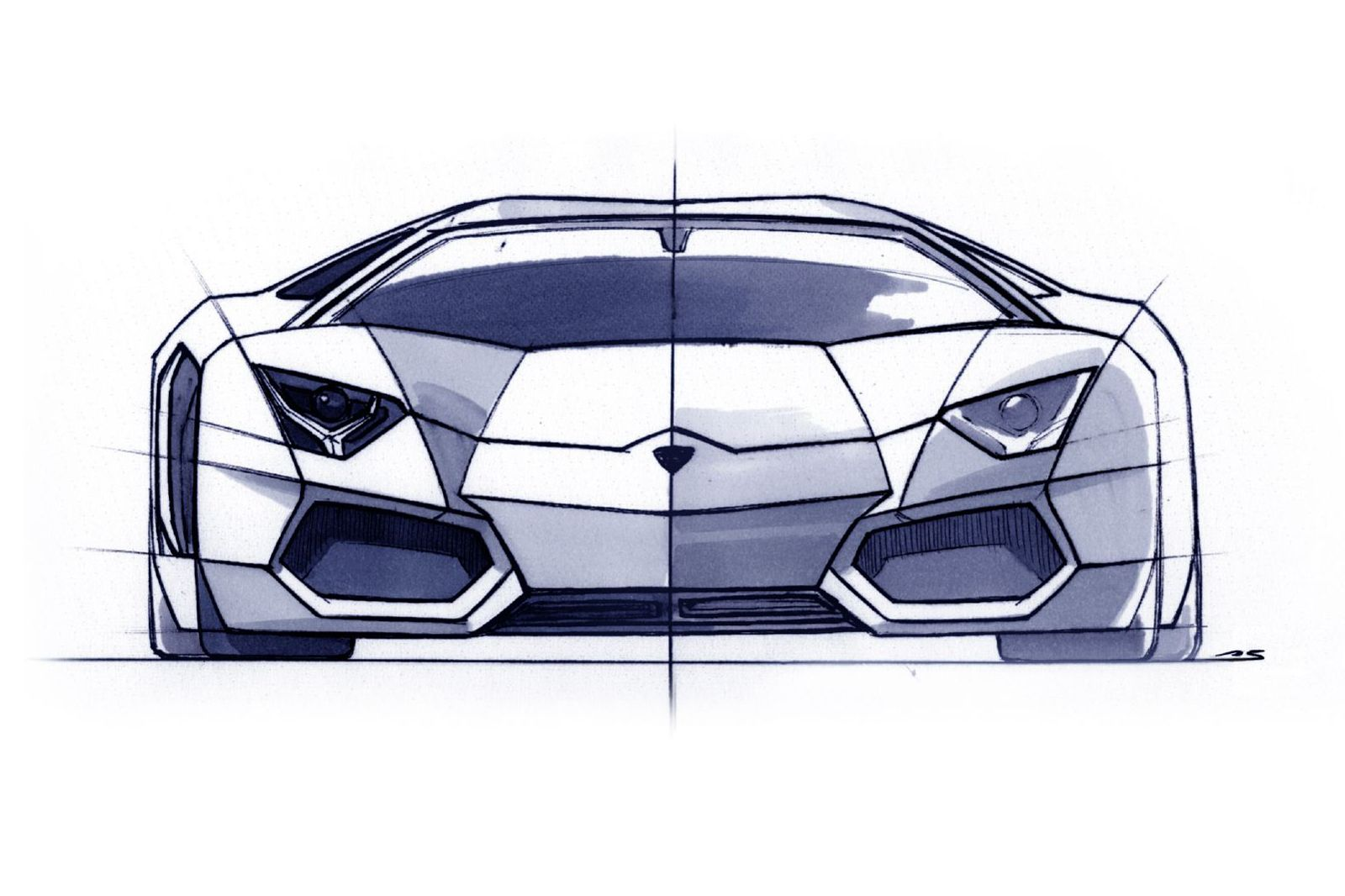 Filippo Perini Brand And Design Director Lamborghini Sketches